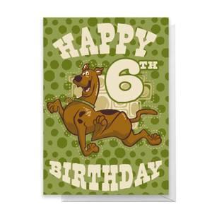 Scooby Doo 6th Birthday Greetings Card