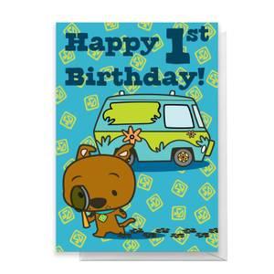 Scooby Doo 1st Birthday Greetings Card