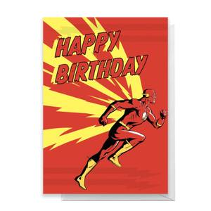 The Flash Happy Birthday Greetings Card