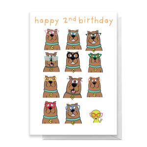 Scooby Doo 2nd Birthday Greetings Card