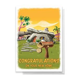 Flintstones New Home Greetings Card