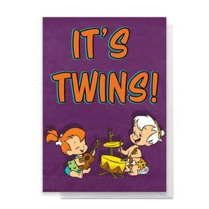 Flintstones It's Twins Greetings Card