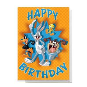 Looney Tunes Group Happy Birthday Greetings Card