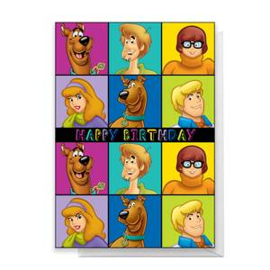 Scooby Doo Gang Happy Birthday Greetings Card