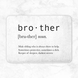 Brother Definition Bath Mat