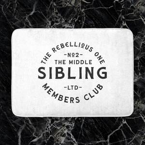 The Middle Sibling The Rebellious One Bath Mat