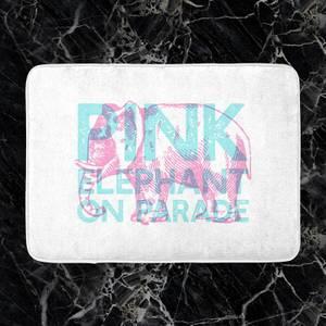 Pink Elephant Bath Mat