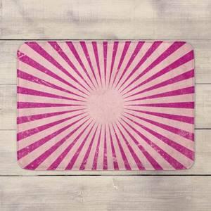 Circus Beams Pink Bath Mat