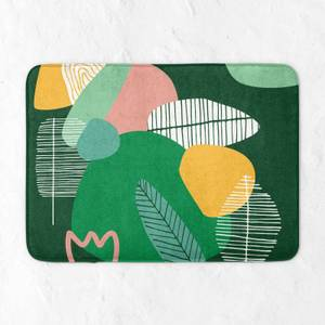 Earth Garden Print Bath Mat