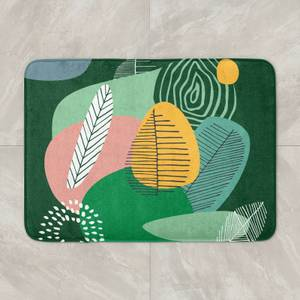 Abstract Leaves And Feathers Bath Mat