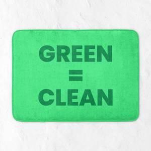 Green = Clean Bath Mat