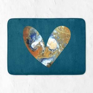 Heart Earth Bath Mat