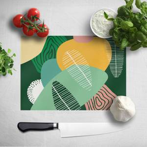 Abstract Leaves Chopping Board