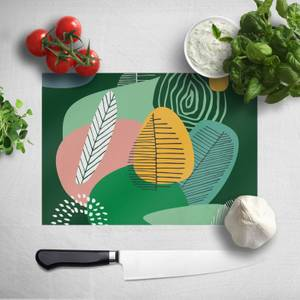 Abstract Leaves And Feathers Chopping Board