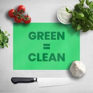 Green = Clean Chopping Board