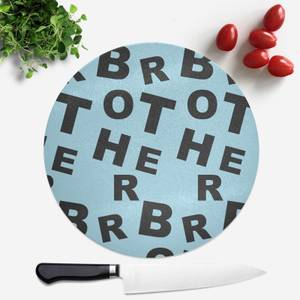 Brother Pattern Round Chopping Board