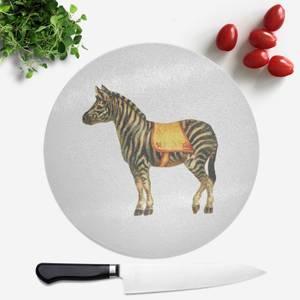 Circus Zebra Round Chopping Board