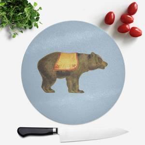 Circus Bear Round Chopping Board