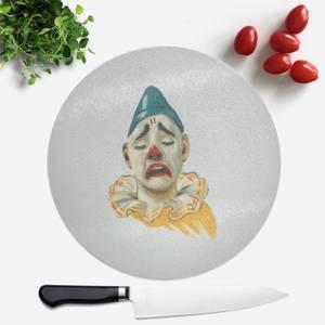 Crying Clown Round Chopping Board