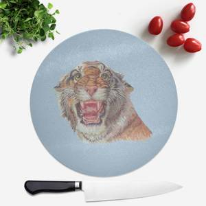 Tiger Round Chopping Board