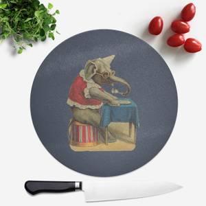 Clown Elephant Round Chopping Board