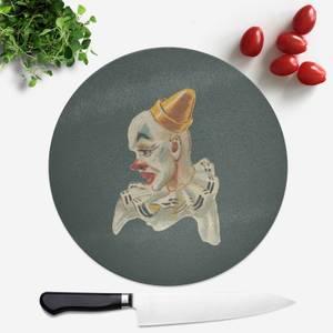 Serious Clown Round Chopping Board
