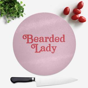 Bearded Lady Round Chopping Board