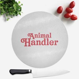 Animal Handler Round Chopping Board