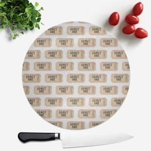 Circus Ticket Pattern Round Chopping Board