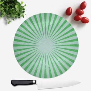 Circus Beams Green Round Chopping Board