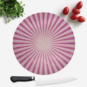 Circus Beams Pink Round Chopping Board