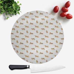 Cheetahs Round Chopping Board
