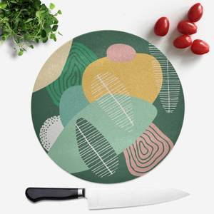 Abstract Leaves Round Chopping Board