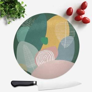 Pastel Garden Round Chopping Board