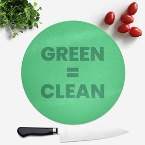 Green = Clean Round Chopping Board