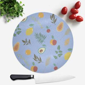 Leaves And Fruit Round Chopping Board