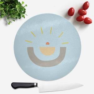 Abstract Sun Round Chopping Board