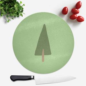Pine Tree Round Chopping Board