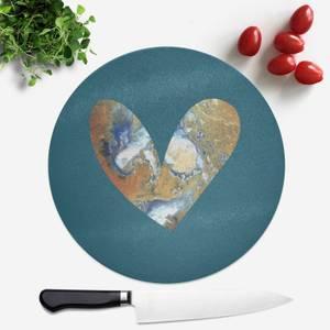 Heart Earth Round Chopping Board