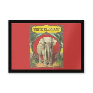 White Elephant Entrance Mat