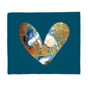 Heart Earth Fleece Blanket