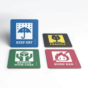 Nintendo Mario Kart Signs Coaster Set