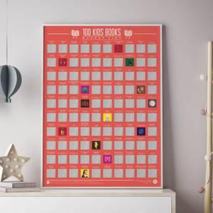 100 Kids Books Scratch Off Bucket List Poster