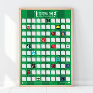 100 Football Teams Scratch Off Bucket List Poster