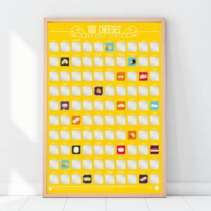 100 Cheeses Scratch Off Bucket List Poster