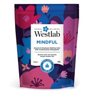 Westlab Mindful Epsom and Himalayan Bathing Salts with Frankincense, Bergamot and CBD Oil 3lb