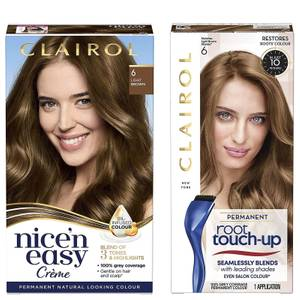 Clairol Nice' n Easy Permanent Hair Dye and Root Touch up Duo (Various Shades)