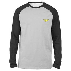 DC Wonder Woman Unisex Long Sleeved Raglan T-Shirt - Grey/Black