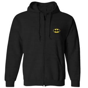 DC Batman Unisex Zipped Hoodie - Black