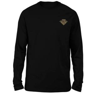 Harry Potter Ravenclaw Embroidered Unisex Long Sleeved T-Shirt - Black